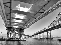 b87 Old & New East Span SF/Oakland Bay Bridge